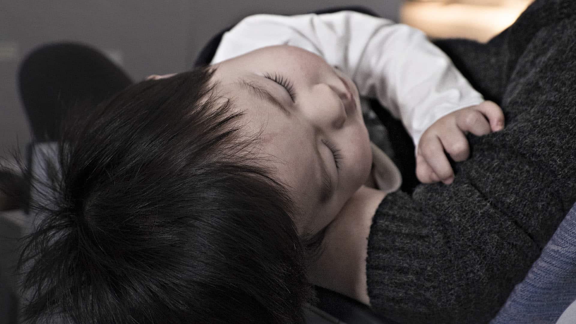 孩子發燒生病